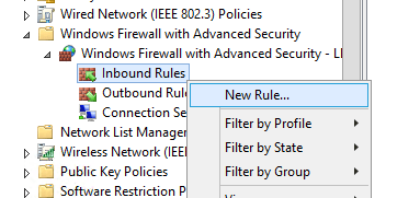create new windows defender firewall rule via gpo